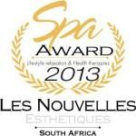 Reminder of previous successes: Les Nouvelles Esthetiques Spa Awards 2013